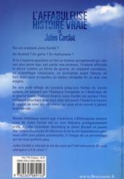 L'affabuleuse histoire vraie de Jules Cardot - 4ème de couverture - Format classique