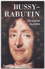 Bussy-Rabutin - Couverture - Format classique