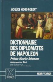 Dictionnaire des diplomates de Napoléon - Couverture - Format classique