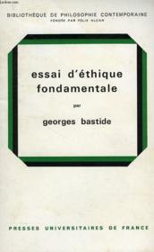 Essai D'Ethique Fondamentale - Couverture - Format classique