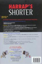 Harrap'S Shorter - 4ème de couverture - Format classique