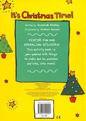 Christmas activity: it's christmas time! - 4ème de couverture - Format classique