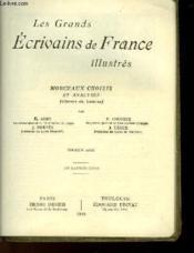 Les Grands Ecrivains De France Illustres - Moyen Age - Morceaux Choisis Et Analyses (Classes De Lettres) - Couverture - Format classique