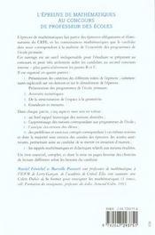 Epreuve De Maths Au Crpe - Intérieur - Format classique
