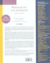 Restructurer son entreprise ; aspects sociaux - 4ème de couverture - Format classique