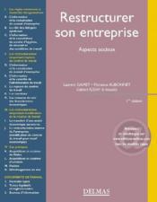 Restructurer son entreprise ; aspects sociaux - Couverture - Format classique