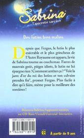 Sabrina t.15 ; des lutins bien malins - 4ème de couverture - Format classique