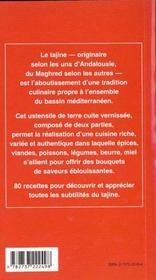 Tagines - 4ème de couverture - Format classique