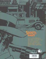 Spaghetti brothers t.8 - 4ème de couverture - Format classique