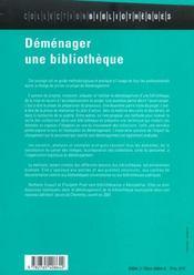 Déménager une bibliothèque - 4ème de couverture - Format classique