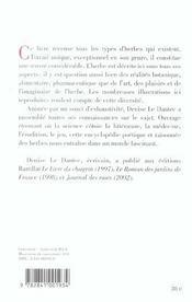 Encyclopédie poétique et raisonnée des herbes - 4ème de couverture - Format classique