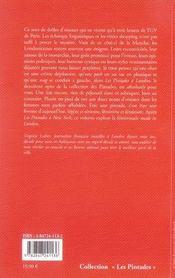 Les pintades à londres - 4ème de couverture - Format classique