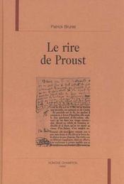 Le Rire De Proust - Intérieur - Format classique