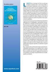 Cristallographie geometrique - 4ème de couverture - Format classique