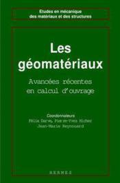 Les geomateriaux volume 1 : theories, experiences, modeles - Couverture - Format classique