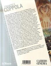 Francis Ford Coppola - 4ème de couverture - Format classique