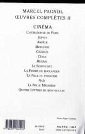 Les Oeuvres Completes T.2 Le Cinema - 4ème de couverture - Format classique