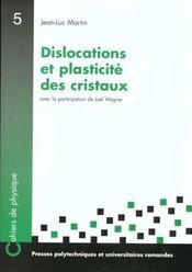 Dislocation Et Plasticite - Intérieur - Format classique
