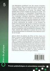 Dislocation Et Plasticite - 4ème de couverture - Format classique