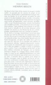 Henrik ibsen - 4ème de couverture - Format classique