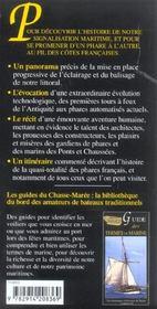 Guide des phares des cotes de france - 4ème de couverture - Format classique