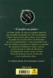 Les dragons de Nalsara T.3 ; complot au palais - 4ème de couverture - Format classique