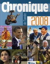 Chronique de l'année 2008 - Couverture - Format classique