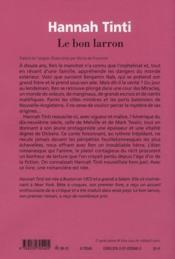 Le bon larron - 4ème de couverture - Format classique