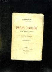 Pages Choisies. - Couverture - Format classique