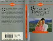 Quoi De Neuf A Springhill ? - The Best Made Plans - Couverture - Format classique