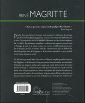 Album René Magritte - 4ème de couverture - Format classique