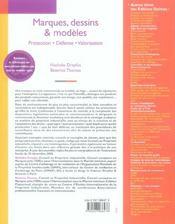 Marques, dessins & modèles ; protection, défense, valorisation (2e edition) - 4ème de couverture - Format classique