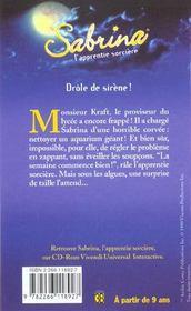 Sabrina t.16 ; drole de sirene - 4ème de couverture - Format classique