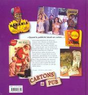 Cartons de pub - 4ème de couverture - Format classique