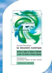 Revue information, interaction, intelligence t.5 ; le document numerique - Intérieur - Format classique