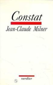 Constat - Couverture - Format classique