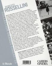 Roberto Rossellini - 4ème de couverture - Format classique