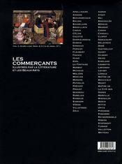 Les commerçants - 4ème de couverture - Format classique