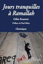 Jours tranquilles à Ramallah - Couverture - Format classique