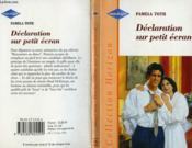 Declaration Sur Petit Ecran - Kissing Games - Couverture - Format classique