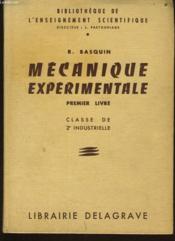 MECANISME EXPERIMENTALE premier livre - classe de 2e industrielle - Couverture - Format classique