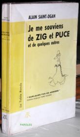 Je me souviens de Zig et Puce et de quelques autres. - Couverture - Format classique