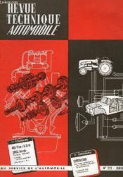 Revue Technique Automobile - N°213 - Couverture - Format classique