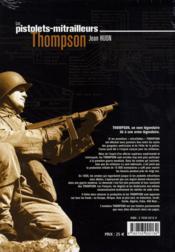 Les pistolets mitrailleurs Thomson - 4ème de couverture - Format classique