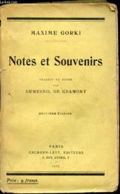Notes et souvenirs - Couverture - Format classique