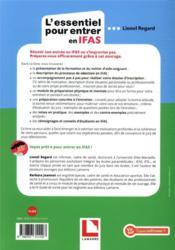 L'essentiel pour entrer en IFAS ; préparez votre dossier de candidature (édition 2021) - 4ème de couverture - Format classique