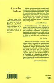 5 rue des italiens - 4ème de couverture - Format classique