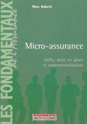 Micro-assurance ; defis, mise en place et commercialisation - Intérieur - Format classique