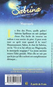 Sabrina t.18 ; magicopoly - 4ème de couverture - Format classique