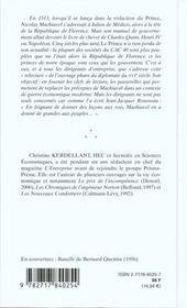 Relire Le Prince De Machiavel - 4ème de couverture - Format classique